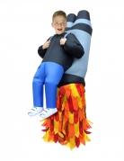 Jetpack-Kostüm für Kinder Huckepack-Kostüm Morphsuits™ blau-rot