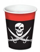 8 Pappbecher Piraten 260 ml