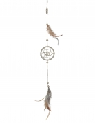Traumfänger Hängedeko grau-beige 35cm