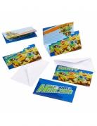 Ninja Turtles™-Einladungskarten für Geburtstage 8 Stück bunt