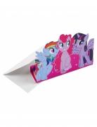 Einladungskarten My Little Pony™ aufstellbar 8 Stück bunt