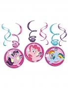 My Little Pony™ Deckenspirale Spiralgirlande 6 Stück bunt