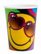 Smiley World™-Becher 8 Stück bunt 260ml