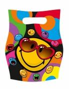 Smiley World™-Geschenktüten Smiley™-Geschenkbeutel 6 Stück bunt 16x23cm
