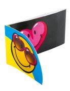 Smiley World™-Einladungskarten Smiley™-Einladungen 6 Stück bunt 8x15cm