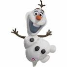 Olaf-Luftballon auf Stab Frozen™-Ballon weiss-schwarz 20x33cm