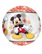 Kreisrunder Micky Maus™-Ballon mit Sternen Disney™-Luftballon bunt 38x40cm
