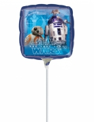 Folienballon quadratisch Star Wars™ bunt 23x23cm