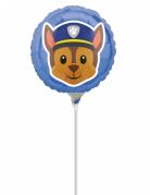 Folienballon rund Emoji™ Paw Patrol™ blau 23cm