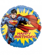 Superman™-Luftballon Lizenzartikel Happy Birthday bunt 43cm