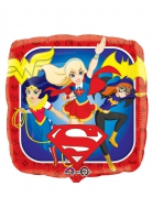 Folienballon quadratisch Super Hero Girls™ bunt 43cm