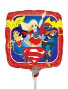 Folienballon Super Hero Girls™ bunt 23x23cm