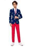 Mr. USA-Kinder-Lizenzanzug blau-weiss-rot