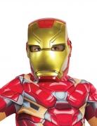 Originalgetreue Iron Man™-Halbmaske Avengers-Maske rot-gold