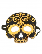 Totenkopf-Maske Día de los Muertos Halloween schwarz-gelb