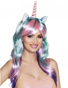 Einhorn-Perücke Kostüm-Accessoire pastellfarben