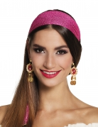 Schicke Ohrringe Kostümaccessoire gold-rot