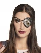 Steampunk-Augenklappe für Damen Kostüm-Accessoire silber-gold