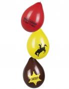 Wild West-Luftballons Partydeko 6 Stück bunt 25cm