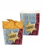 Wilder Westen Snackboxen 6 Stück blau-rot 400ml