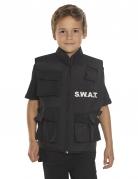 SWAT-Weste für Kinder schwarz