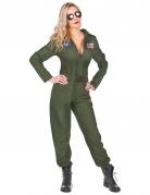 Flugzeugpilot-Kostüm für Damen grün
