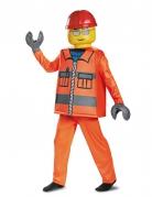 Lego™ Bauarbeiterkostüm für Kinder komplett Karneval orange-gelb