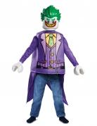 Lego™ Joker-Kostüm für Kinder Karneval violett-grün
