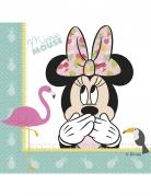 Minnie Maus™-Partyservietten Tropen-Motiv 20 Stück bunt 33x33cm