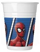 Spiderman™-Partybecher aus Kunststoff 8 Stück weiss-blau-rot 200ml