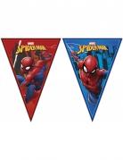 Spiderman™-Girlande mit Wimpeln Partydeko blau-rot 2,3m x 25cm