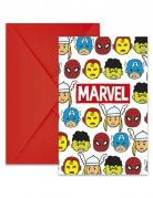 6 Einladungskarten und Briefumschläge Avengers von Marvel