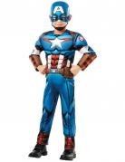 Captain America™-Kostüm für Kinder Karneval blau-rot-weiss