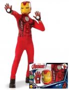 Iron Man™-Lizenzkostüm für Kinder rot-gelb-schwarz