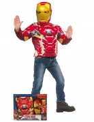 Iron Man™-Kostüm Marvellizenzkostüm 2-teilig rot-gelb