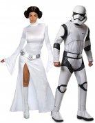 Star Wars™-Paarkostüm Leia und Stormtrooper weiss-schwarz