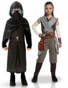 Star Wars™-Kinderpaarkostüm Kylo Ren und Rey schwarz-bunt