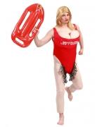 Rettungsschwimmer-Kostüm für Herren Karneval rot