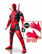 Deadpool™-Set Kostüm und Handschuhe rot-schwarz