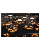 Kürbis-Tischdekoset 4-teilig Halloween-Dekoration schwarz-orange