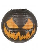 Kürbislaterne Halloween-Dekoration schwarz-orange 25cm