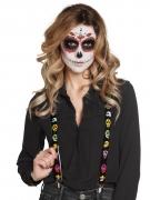 Hosenträger Día de los Muertos Halloween schwarz-bunt