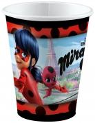 Ladybug™-Partybecher Miraculous™-Tischdeko 8 Stück bunt 250ml