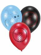 Ladybug™-Luftballons Party-Deko 6 Stück schwarz-rot-blau 22,8cm