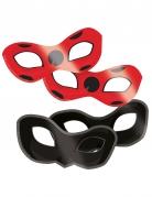 Miraculous™-Augenmasken 8 Stück schwarz-rot