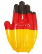 Aufblasbare Deutschland-Hand Fanartikel schwarz-rot-gold 43x30cm