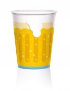 6 Große Pappbecher Bierkrug 450 ml