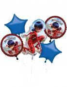Ladybug™-Luftballons Aluminium 5 Stück rot-blau-schwarz