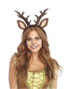 Reh-Haarreif für Damen Karnevals-Accessoire braun