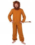 Löwen-Kostüm für Herren Faschingskostüm braun